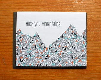 Miss you Mountains-single card
