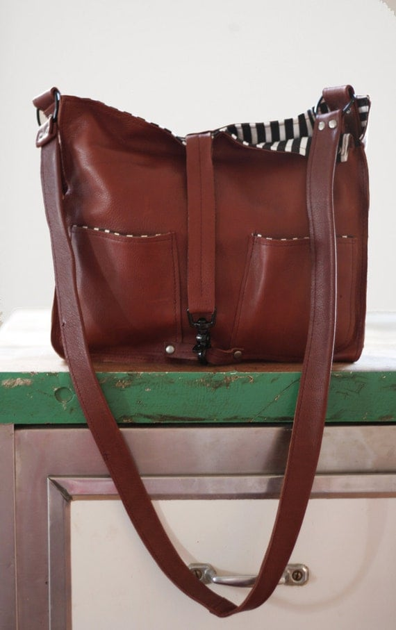 TomTom Leather Tote in Cognac. Made To Order.
