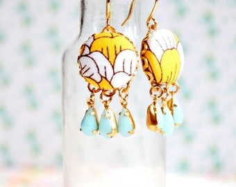 Little Yellow Chandelier Earrings