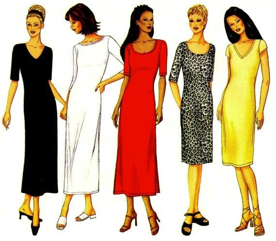 Womens Pullover Straight Dress Pattern Butterick 6531 Misses Sewing Pattern Full Figure Size 18 - 20 - 22 Bust 40 - 42 - 44 UNCUT