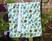 Baby Boy Burp Cloth Set - Green and Blue Dots Burp Cloth Set - Dots Burpcloths - Dots Burp Cloths - Boy Baby Gift Set -