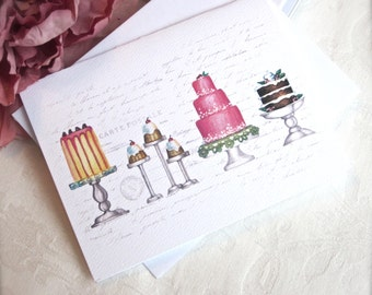 PRETTY CAKES Note Card
