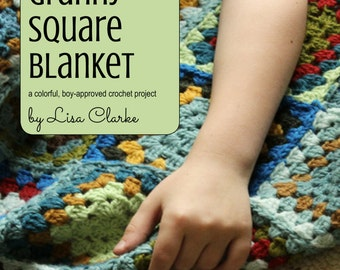 Flufy's Granny Square Blanket Crochet Pattern and Tutorial