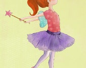Ballerina Art  8x10 Print