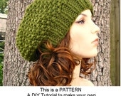 Instant Download Knitting Pattern - Knit Hat Knitting Pattern - Knit Hat Pattern Seed Beret Pattern - Womens Hat Pattern Womens
