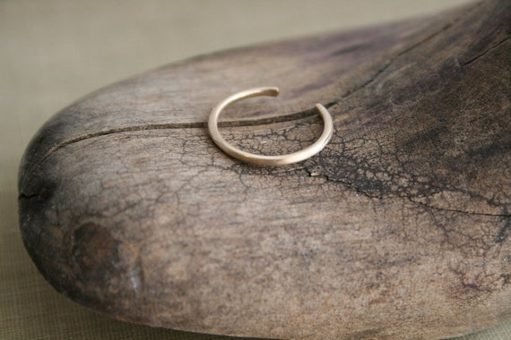 14K Yellow Gold Fill Toe Ring Matte Finish Round Wire