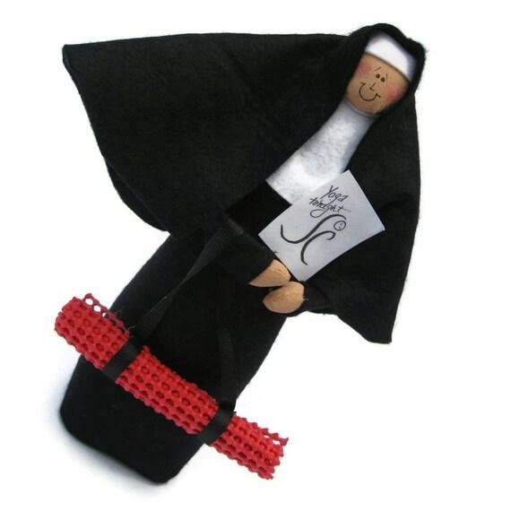 Funny Nun doll Catholic gift -yoga loving sister -Sister Maddie Tate