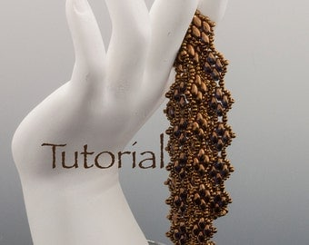 SuperDuo Beadwoven Bracelet Tutorial Sensuous Strands Digital Download