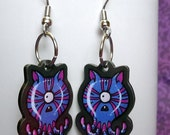 OctoCat Octopus Cat monster - Feeping Creatures acrylic earrings