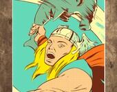 Thor, Shark, Avengers, Hammerhead, Hammer Time, 18 x 24 Art Print, Poster