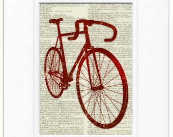 Bike in Red print