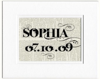 Custom Name and Birth Date sign