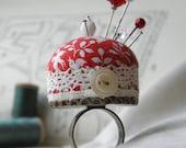 Lovebirds Pincushion Ring