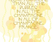 I Love You More Than All of the Bubbles in All of the Champagne In All of Champagne France card