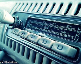 Music for the Road Vintage VW Bus Radio Photograph