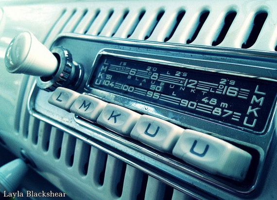 items similar to music for the road vintage vw bus radio. Black Bedroom Furniture Sets. Home Design Ideas