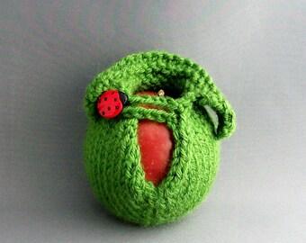 Apple Jacket Cozy Sweater Ladybug Lucky Kelly Green Emerald Green