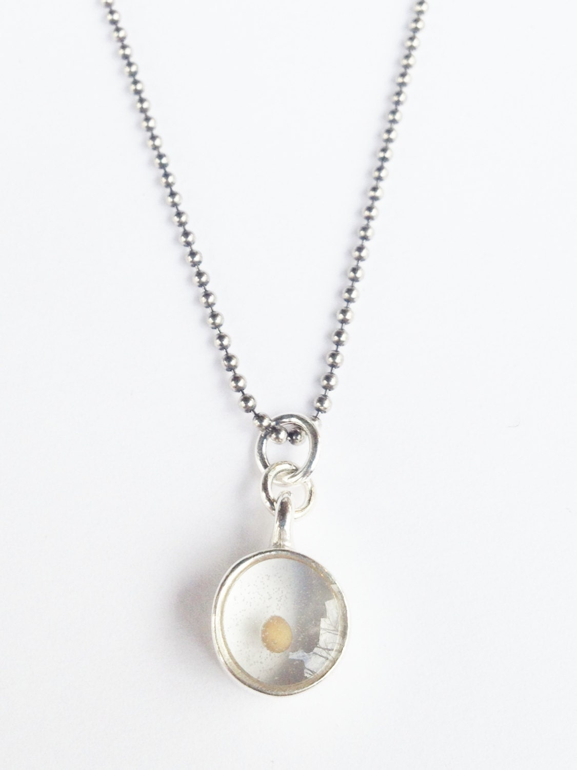 Medium Mustard Seed Charm Necklace In Sterling Silver Silver