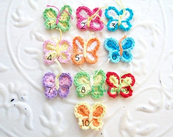 Infant Clip. Baby Bow. Baby Clip. Infant Snap Clip Pink Crochet Butterfly Infant Baby Hair Clip. Girl Hairbow. Mini Baby Snap Clip Hairbows