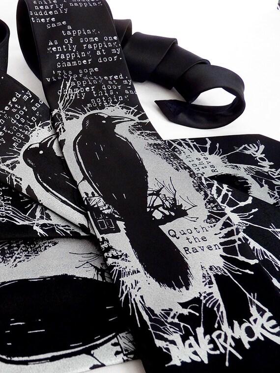Raven Men's Tie - Edgar Allan Poe Raven Nevermore Necktie