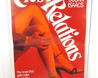 Vintage Book Advertising Poster - Close Relations by Susan Isaacs - Romance Novel