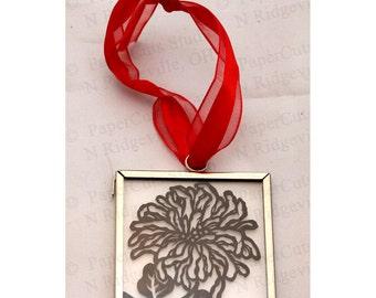 Chrysanthemum Papercut Ornament, Handcut Original