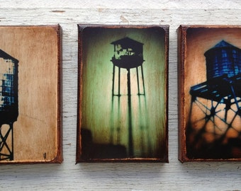 Wall Art - NYC Watertowes Set of 3 - Photo 4x6