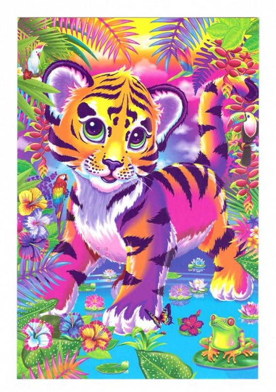 Coloring pages hard - Lisa Frank Forrest The Tiger Cub Postcard Tropical