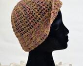 SALE  Vintage 20s Cloche Hat  Flapper Gilded Gold Metallic Crochet Cap