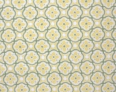 1950's Vintage Wallpaper - Golden Yellow and Olive Green Geometric Design