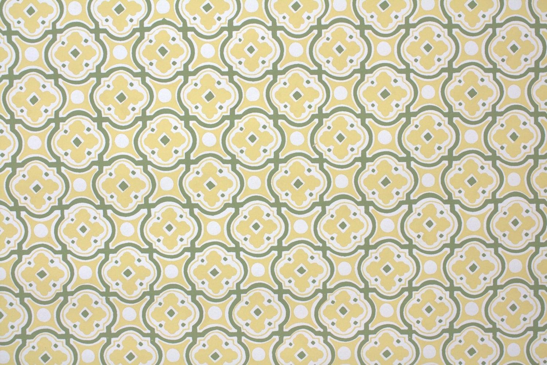 Papier peint vintage des ann es 1950 olive et jaune dor - Papier peint vintage enfant ...