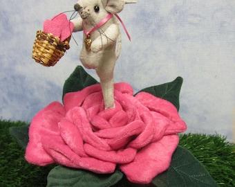 Mouse, Pin Cushion, Rose Pin Cushion, Flower Pin Cushion