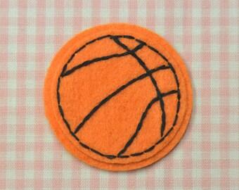 Set of 6pcs handmade felt basketball--pumpkin (FT367)