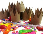 Eco-Friendly DIY party favors - Party Hats - Princess or Prince Crowns