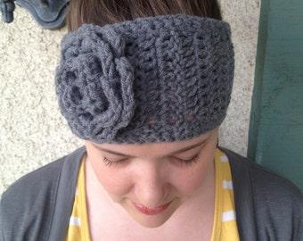 Crochet PATTERN Annabelle Chunky thick flower headband/ head warmer / ear warmer (adult size)