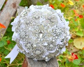 Rhinestone drop brooch bouquet -- deposit on a made-to-order brooch bouquet