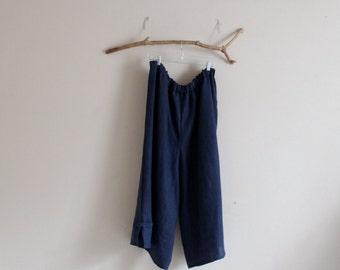 plus size heavy linen asian peasant pants