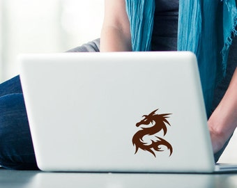 Dragon Vinyl Decal - Laptop Decal - Tribal Dragon Decal - Small Decals - Tribal Decal - Happy New Year
