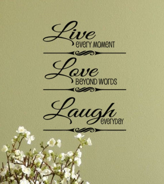 Beyond Words Customizable Wall Decor Kohls : Live every moment love beyond words laugh by householdwords