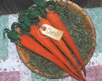 EPATTERN -- Primitive Spring Carrots Tucks Ornies Bowl Fillers