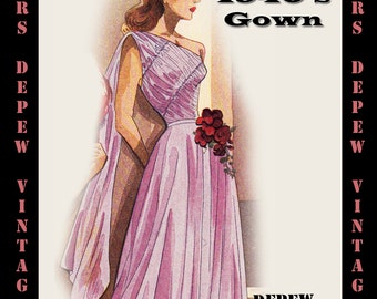 1940's evening gowns