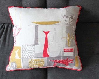 Modern Mid Century Pattern Iconic Decor Graphic Pillow