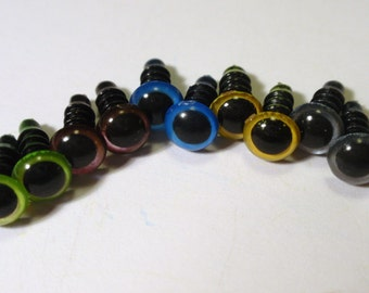 6mm MIX colour Safety Eyes- 10pairs (20pcs)