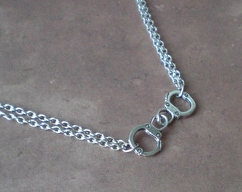 Pair of Handcuff's Chain Necklace