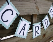 Cards Banner - Wedding Sign Decoration in Custom Colors