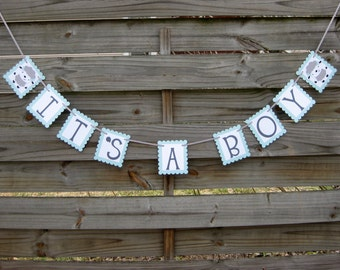 It's A Boy Banner - Little Lamb Theme Baby Shower Decoration