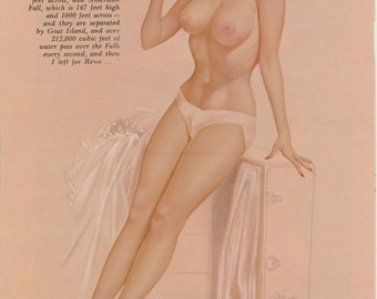 51#  Rare 50's Early 60's Vintage Vargas Pin Up Girl Playboy Picture  Hollywood Regency Wedding