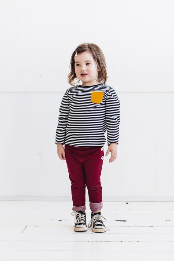 Stretchy denim pants maroon