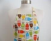 Kid apron AGE 4-8 / Laminated apron / wipe clean smock / Preschool apron / Garden apron / kids kitchen