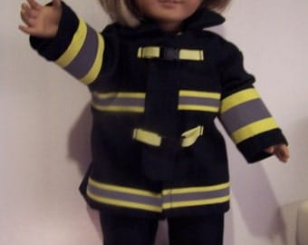 Fire fighter uniform fits american girl doll